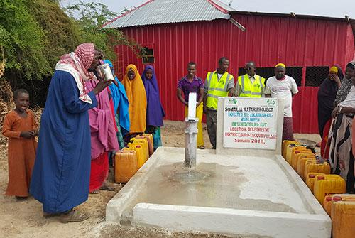 Water Well donation project in Somalia